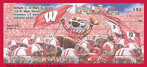 Wisconsin Badger personal checks