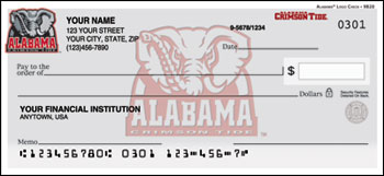 University of Alabama Checks
