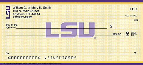 Lsu personal checks for New check designs